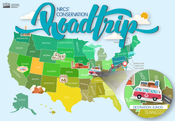 Natural Resources Conservation Service road trips across the U.S. to look at agricultural practices