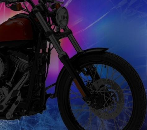 Motorcycle driver loses consciousness causing accident
