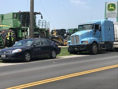 Car struck in the rear by semi in Carroll County