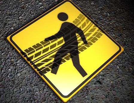 Stover pedestrian injured by unoccupied truck
