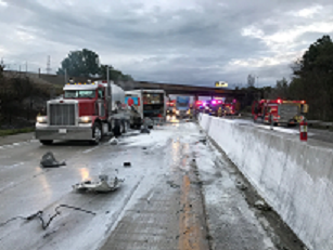 UPDATE: Two report injuries following five-vehicle pile up on Interstate 70 Wednesday