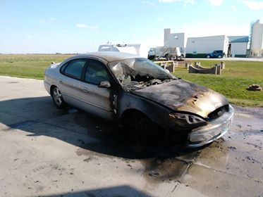 Car ignites at gas station in Norborne