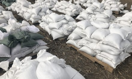 Help requested for sandbagging operation just north of Grand Pass in Saline County