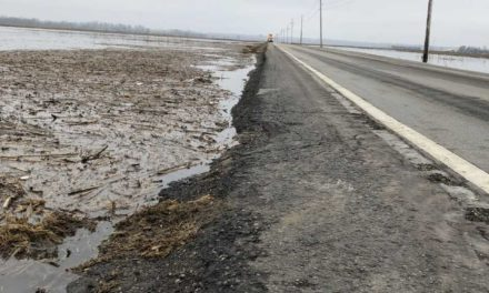 Highway 65 now open but damaged by flood waters