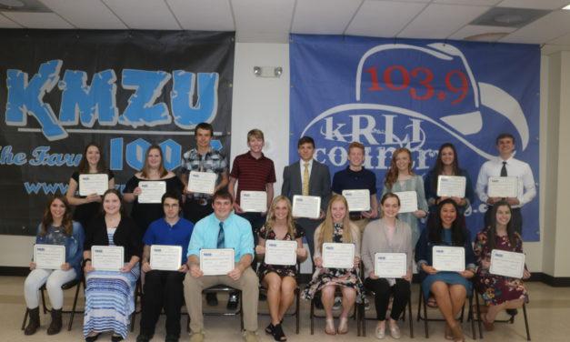 Area scholars honored at 28th Annual KMZU Academic Dream Team Awards Banquet
