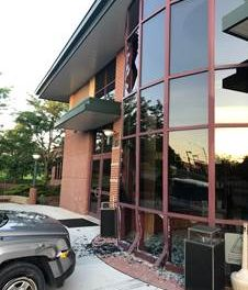 Vehicle smashes into Lee's Summit Police Headquarters, driver arrested