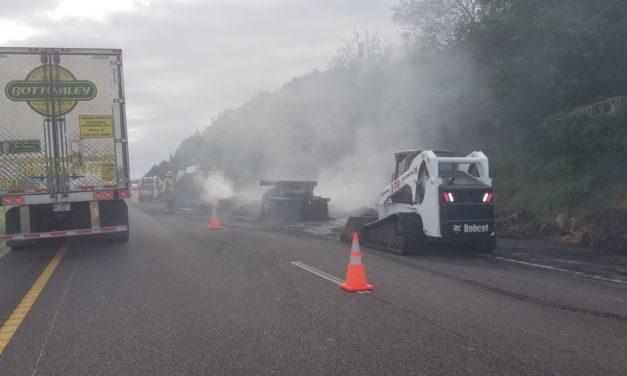 Massive truck fire on I-70