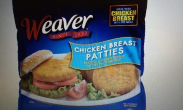 Tyson recalls Weaver frozen chicken product.