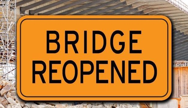 Area bridge scheduled to reopen after flood damage repairs completed