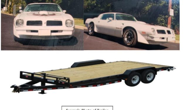 Grundy County Sheriff's Office requesting assistance with stolen Pontiac Firebird