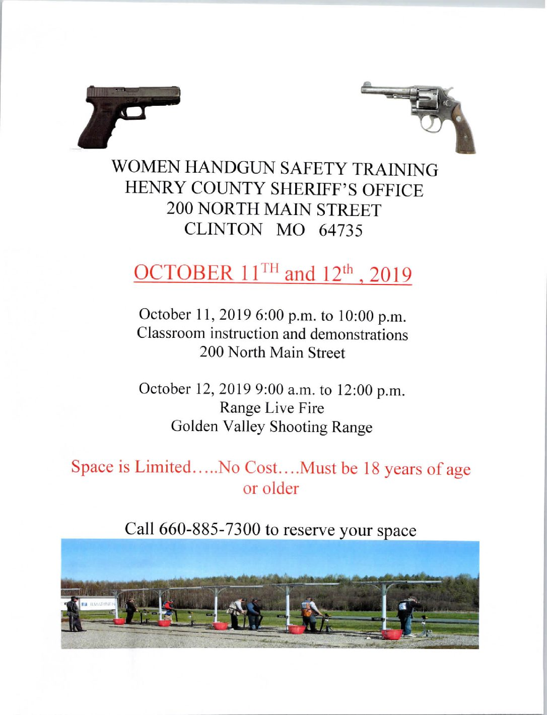 Henry County Sheriff's Office Women's Handgun Safety Clinic