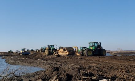 Area farmers and Levee District rebuilding temporary levees