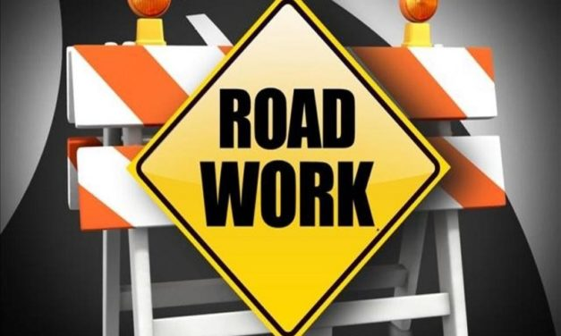 Road work in Bates County on Wednesday