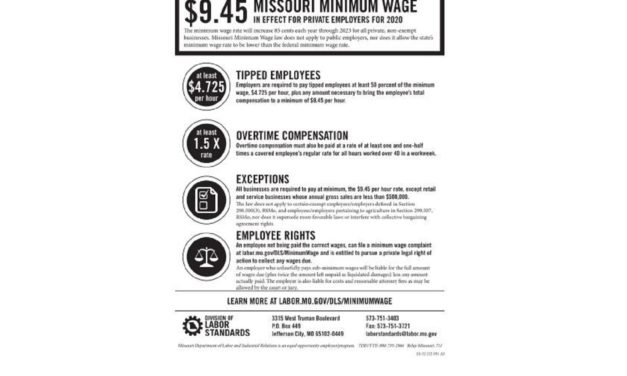 New Year's Day brings new wages to working Missourians