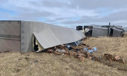 Potatoes spill from overturned semi in Moberly