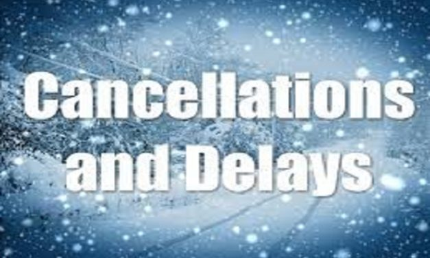 MONDAY 01/13/2020  CLOSINGS AND DELAYS