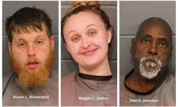 Three charged with robbery in Cass County cemetery