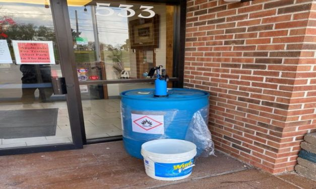 Lexington Fire Department giving out hand sanitizer Monday