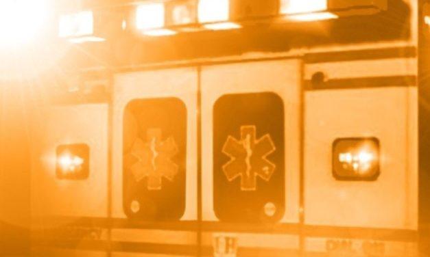 Slick roadway causes injury crash