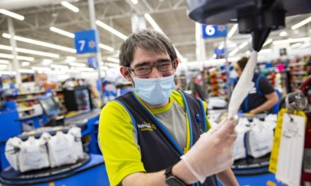 Walmart requiring employees to wear face protection