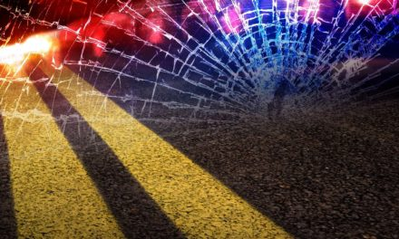 Two injured as vehicle hits building near Macon