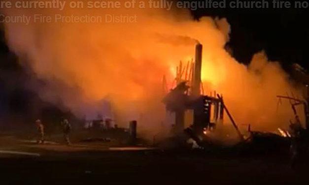 Harmony Baptist Church near Leeton burns