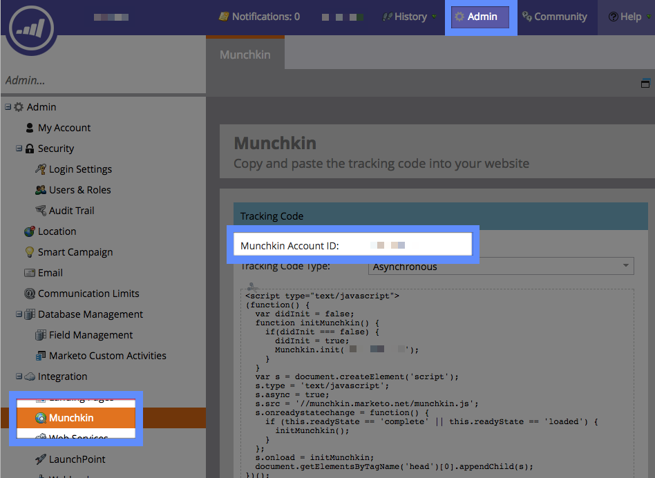 Drift Help - Marketo Integration - Connect Your Account