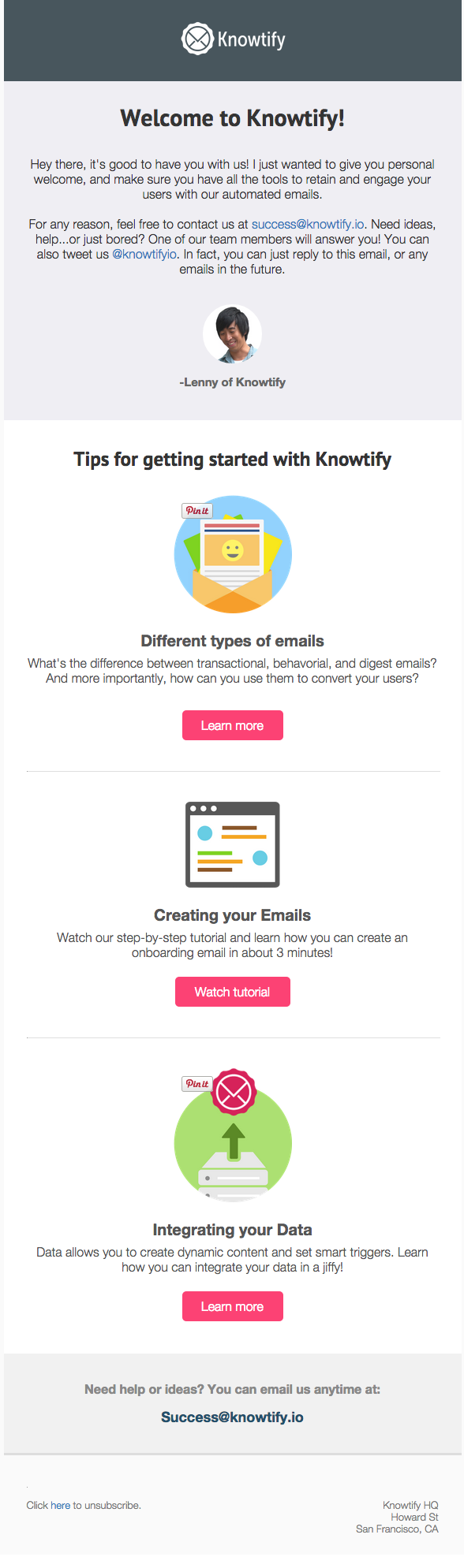 How we built out our onboarding email flow to drive active users we will be personalizing this email in the future to better match the needs of each user based on data we gather during onboarding maxwellsz