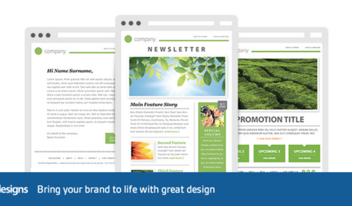6 99 designs 99 designs offers this free template - Free Email Newsletter Templates