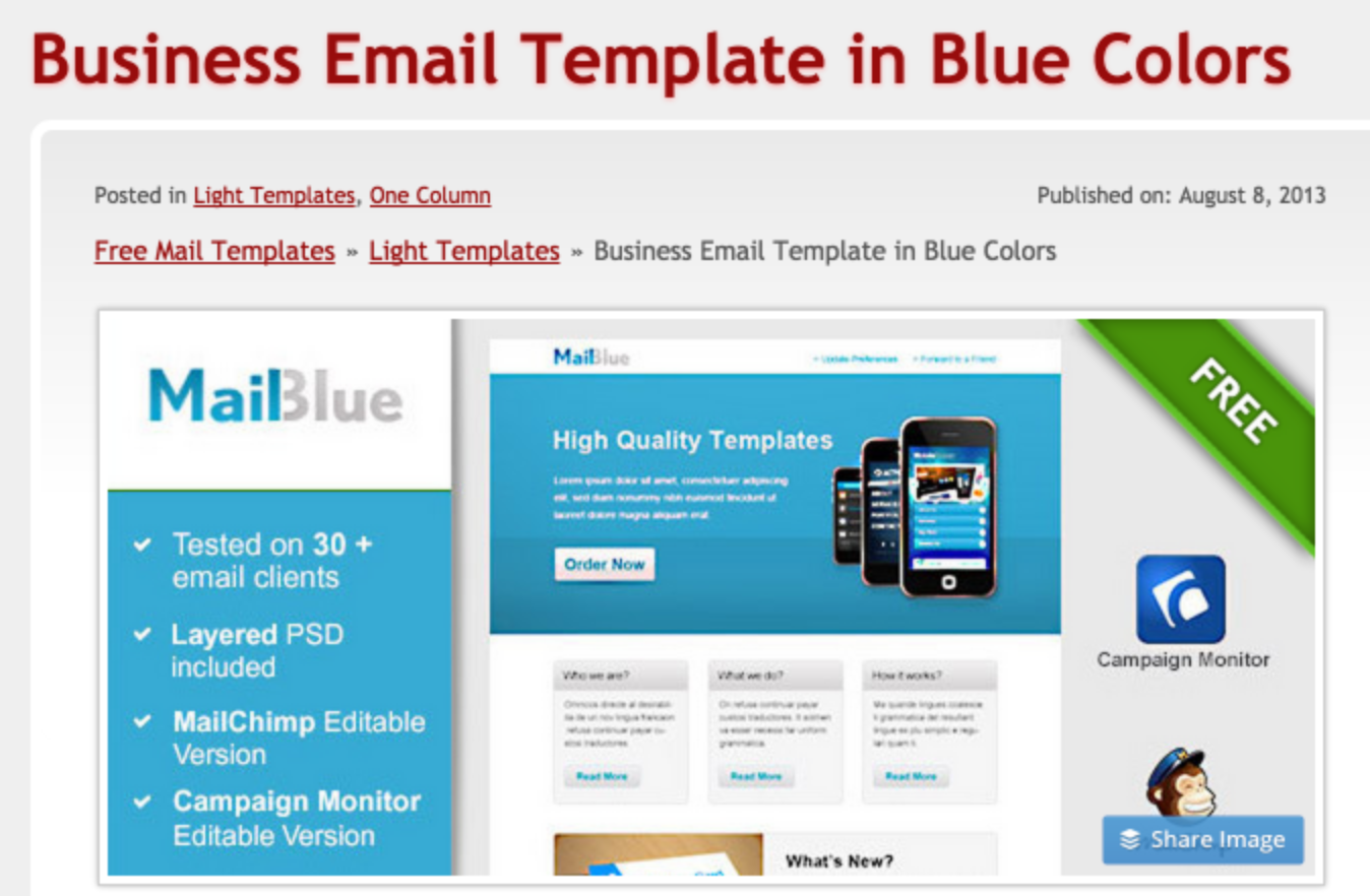 223 free responsive email templates for Outlook email templates free
