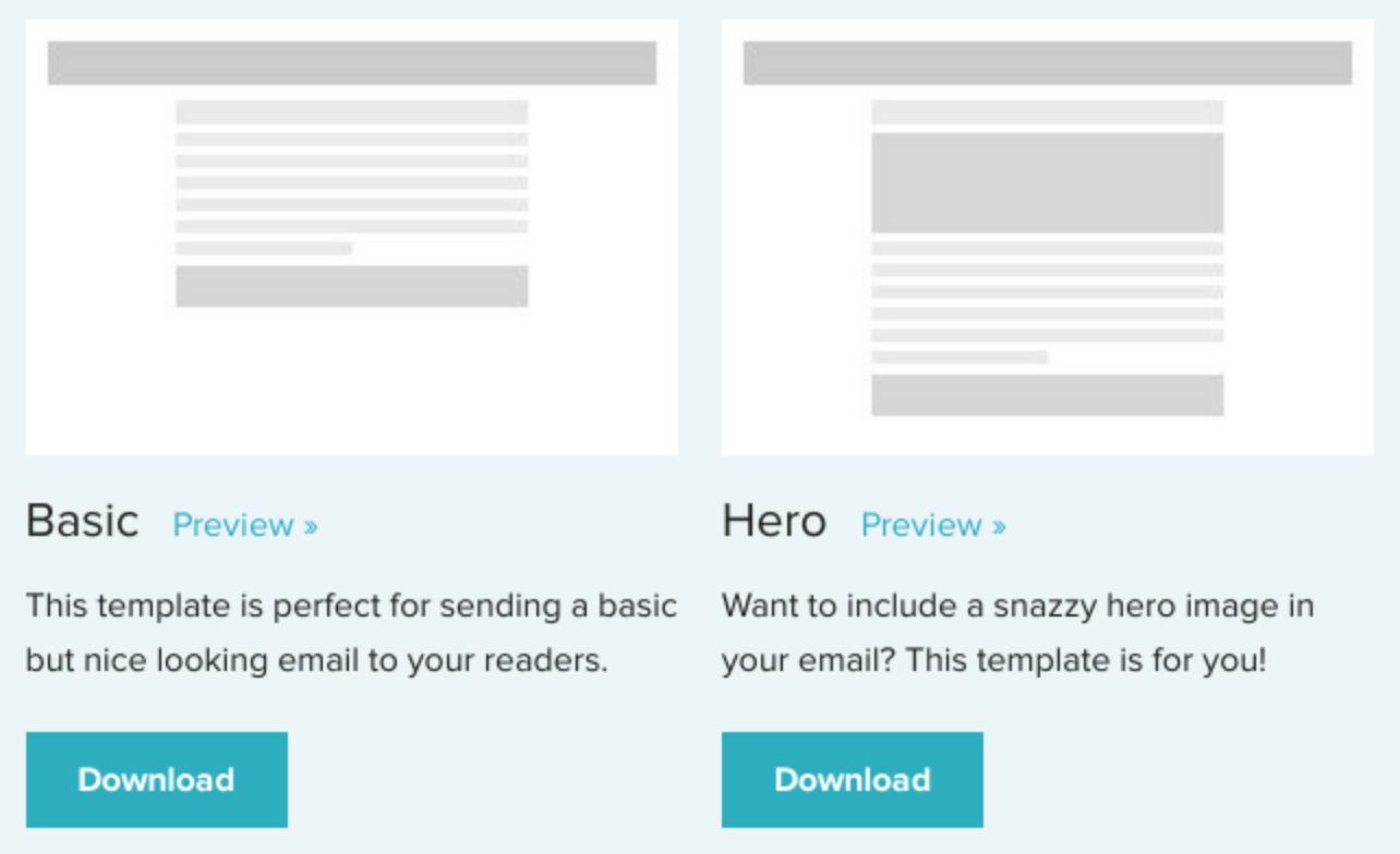 Free Responsive Email Templates - Basic html email template