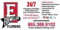 Website for Eidemiller Plumbing, Inc.