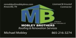 Website for Mobley Brothers Roofing & Renovation Services