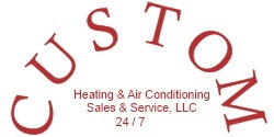Website for Custom Heating & Air Conditioning, LLC
