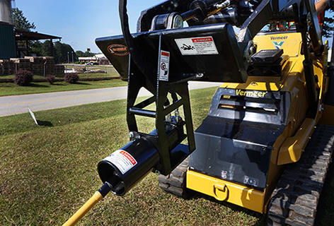 Mini Skid Steer boring attachment