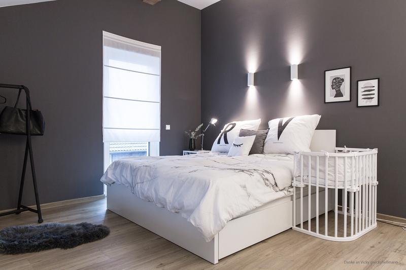 Farbfreude: Vickys graue Schlafzimmerwand - Kolorat