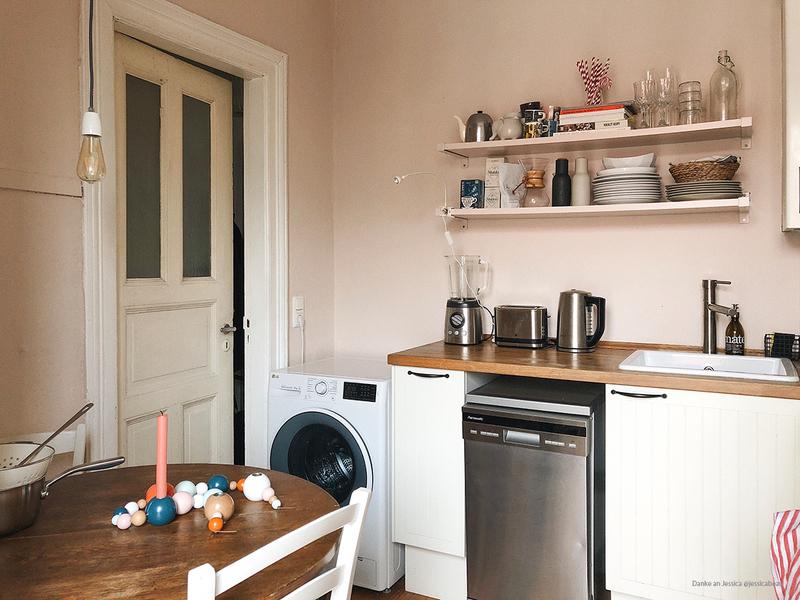 Farbfreude Rosa in der Küche.