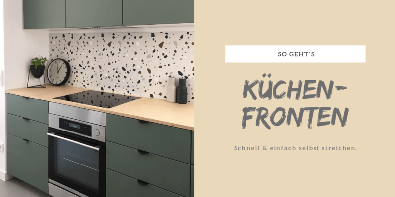 Küchenfronten selbst lackieren.