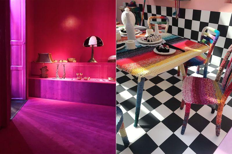 Reine, intensive und knallige Farben an den Wänden und bei den Möbeln.