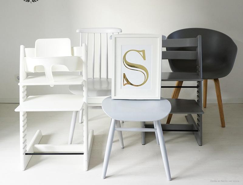 So lackierst du deine Stühle in Grautönen.