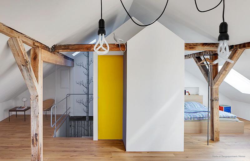 Gelbe Akzente im Wohnraum.