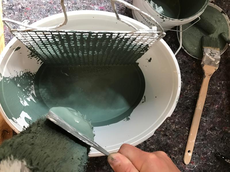 Farbwalze richtig auswaschen. so gehts.