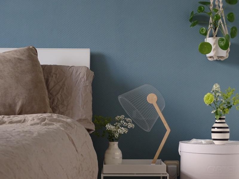 Farbfreude julias schlafzimmer in blau kolorat for Wandfarbe im schlafzimmer