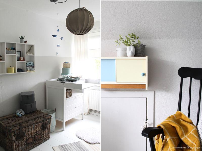 Kinderzimmer beige wohnideen - Rauchblau wandfarbe ...