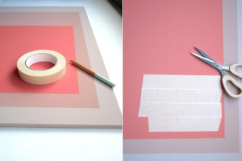 DIY Wandgestaltung. Bild in eigenen Farben gestalten.