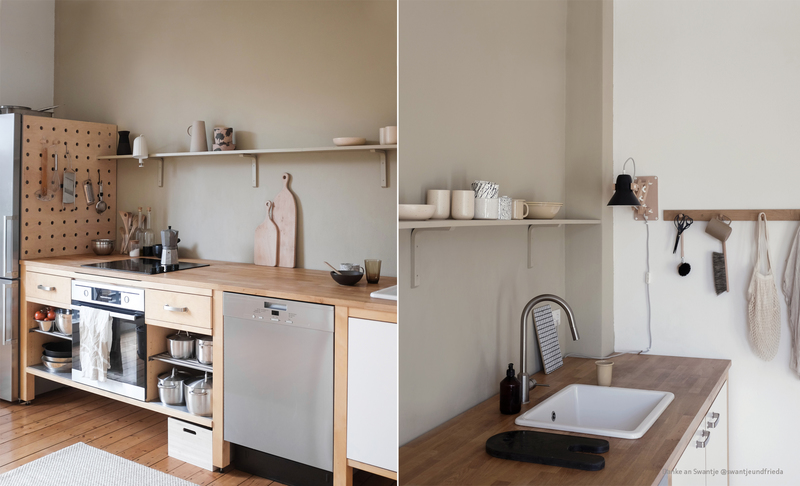 Farbfreude: Swantjes Küche in Beige.