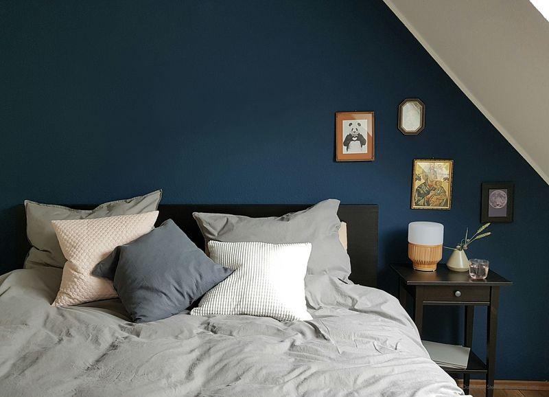Elegant Petrol Wandfarbe Im Schlafzimmer.