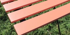 Balkontisch farbig lackieren 9