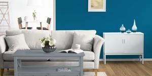 Kolorat wohnzimmer wandfarbe blau