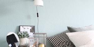 Kolorat schlafzimmer mint